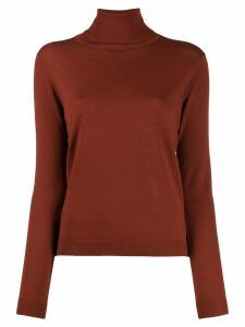 Aspesi turtleneck fine knit jumper - Brown