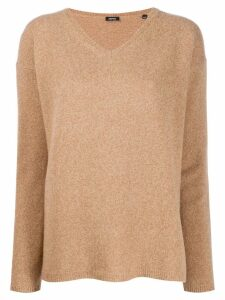 Aspesi V-neck fine knit jumper - NEUTRALS