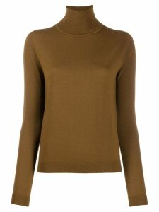 Aspesi turtleneck fine knit jumper - Brown