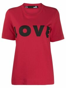 Love Moschino Love print T-shirt - Red
