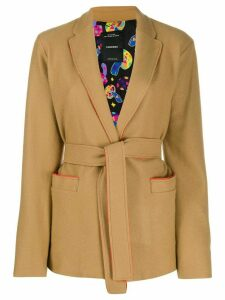 Canessa short belted waist jacket - Brown