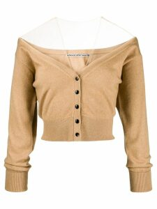 Alexander Wang off-the-shoulder cardigan - Neutrals
