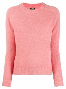 Aspesi V-neck fine knit jumper - PINK