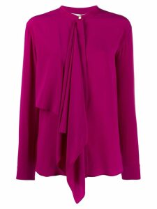 Stella McCartney draped-panel blouse - PURPLE