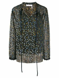 See By Chloé loose-fit print mix blouse - Blue