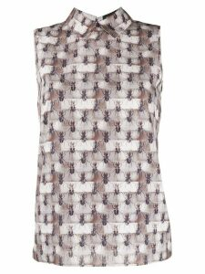 Styland beetle print top - Neutrals