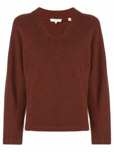 Vince cashmere V-neck jumper - Red