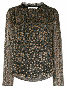 See By Chloé loose-fit print mix blouse - Black