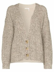 See By Chloé two-tone knitted cardigan - Brown