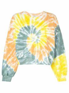 Agolde tie-dye print sweatshirt - Yellow