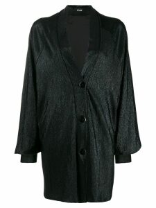 Styland metallic shawl lapel jacket - Black