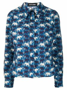 Styland animal print shirt - Blue