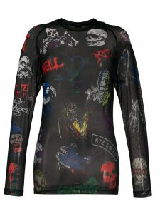 KTZ Death Metal Monster Net top - Black