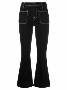 FRAME cropped flared jeans - Black
