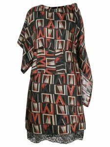 Antonio Marras asymmetric printed dress - Black