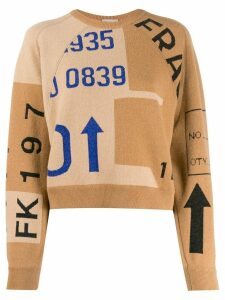 MRZ patchwork jumper - NEUTRALS