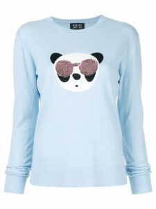 Markus Lupfer Tracy Panda sequin sweater - Blue