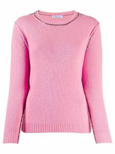 Blumarine contrast stitch jumper - PINK