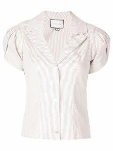Alexis Kirstie puff shoulder shirt - Brown