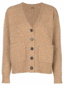 Adam Lippes texture knit cardigan - Brown