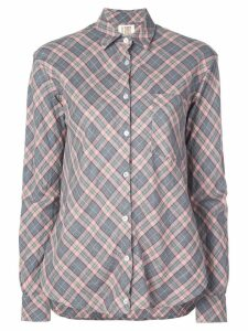 A Shirt Thing loose-fit plaid shirt - Grey