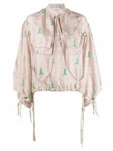 LANVIN JL Monogram print blouse - Neutrals