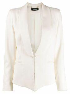 Styland shawl lapel blazer - White