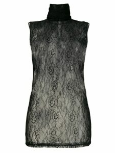 Styland floral lace top - Black