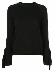 Alexis Dafna tie-cuff jumper - Black