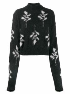 Brognano floral knit jumper - Black