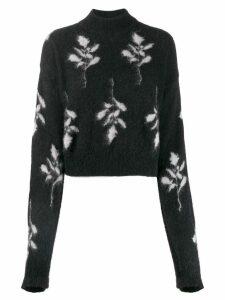 Brognano floral knit jumper - Black