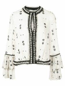 Alexis Celestia bead-embellished blouse - White