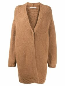 Fabiana Filippi oversized draped cardigan - Brown