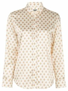 Alexa Chung floral long-sleeve shirt - White