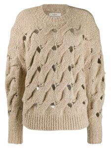 Isabel Marant Étoile chunky interlock-knit jumper - Neutrals