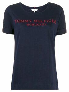 Tommy Hilfiger rhinestone logo T-shirt - Blue