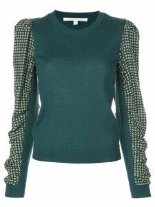 Veronica Beard contrasting sleeve jumper - Green