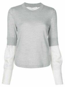 Veronica Beard layered sleeve jumper - Grey