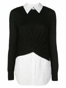 Veronica Beard double layer jumper - Black
