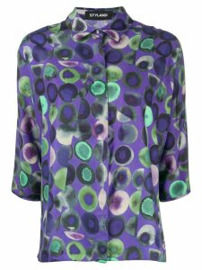 Styland dotted shirt - PURPLE