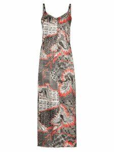 Rave Review digital print slip dress - PRINTED