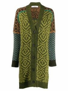 Tela colourful knit cardigan - Green