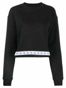 Calvin Klein Jeans logo stripe sweater - Black