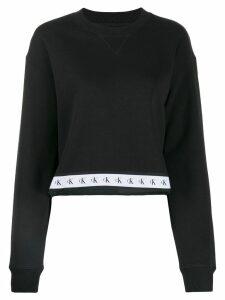 Calvin Klein Jeans logo stripe sweater - Black