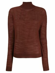 Lemaire turtle neck sweater - Brown