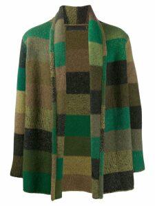 The Elder Statesman cashmere striped cardigan - Green
