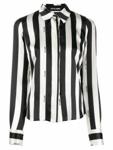 Styland striped fitted shirt - Black