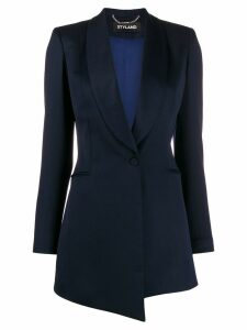 Styland shawl lapel long-line blazer - Blue