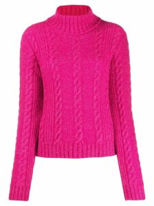 Versace cable-knit rollneck jumper - PINK