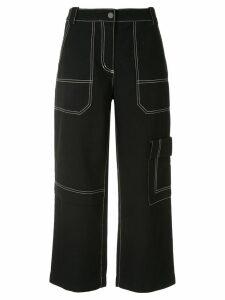 3.1 Phillip Lim cropped wool denim cargo pants - BA001 BLACK